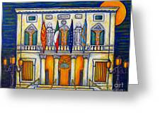 A Night at the Fenice Greeting Card by Lisa  Lorenz