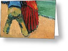 A Pair of Lovers Greeting Card by Vincent Van Gogh