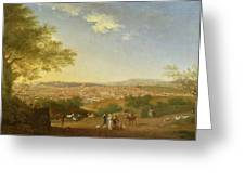 A Panoramic View Of Florence From Bellosguardo Greeting Card by Thomas Patch