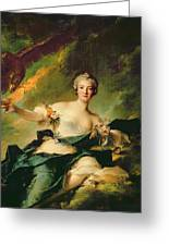 A Portrait Of Anne Josephe Bonnnier De La Mossau  Greeting Card by Jean Marc Nattier