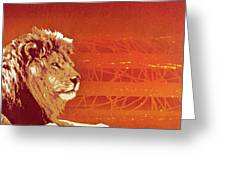 A Roaring Lion Kills No Game Greeting Card by Tai Taeoalii