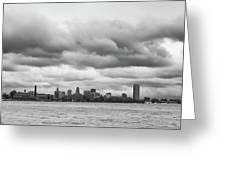 A Rotten Day In Buffalo  9230 Greeting Card by Guy Whiteley