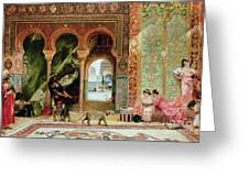 A Royal Palace In Morocco Greeting Card by Benjamin Jean Joseph Constant