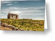 A Shack On The Aran Islands Greeting Card by Natasha Bishop