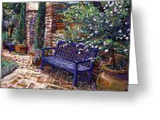 A Shady Resting Place Greeting Card by David Lloyd Glover