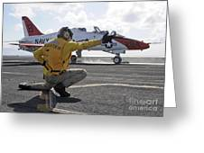 A Shooter Launches A T-45 Goshawk Greeting Card by Stocktrek Images