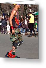 A Skater In Central Park Greeting Card by RicardMN Photography