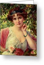 A Summer Rose Greeting Card by Emile Vernon
