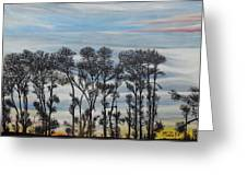 A Treeline Silhouette Greeting Card by Marilyn  McNish