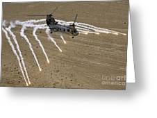 A U.s. Marine Corps Ch-46 Sea Knight Greeting Card by Stocktrek Images