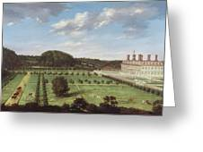 A View Of Bayhall - Pembury Greeting Card by Jan Siberechts