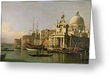 A View Of The Dogana And Santa Maria Della Salute Greeting Card by Antonio Canaletto