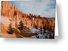 A View Of The Hoodoos And Other Eroded Greeting Card by Taylor S. Kennedy