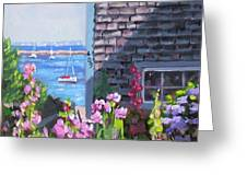 A Visit To P Town Jr Greeting Card by Laura Lee Zanghetti