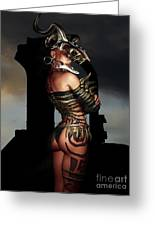 A Warrior Stands Alone Greeting Card by Alexander Butler