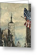 A Watercolor Sketch Of New York Greeting Card by Dirk Dzimirsky