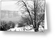 A Wintry Day Greeting Card by Gerlinde Keating - Keating Associates Inc
