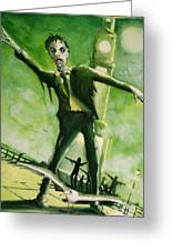 A Zombie In Herne Bay Greeting Card by Paul Mitchell