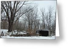 Abandoned Farm Greeting Card by David Junod