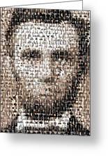 Abe Lincoln Presidents Mosaic Greeting Card by Paul Van Scott