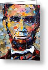 Abraham Lincoln Portrait Greeting Card by Debra Hurd