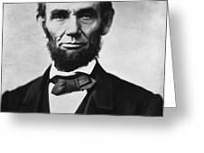 Abraham Lincoln Greeting Card by War Is Hell Store
