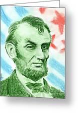 Abraham Lincoln  Greeting Card by Yoshiko Mishina