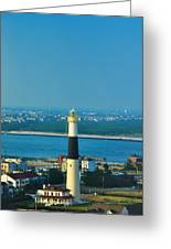 Absecon Lighthouse Atlantic City Greeting Card by Bill Cannon