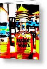 Absolut Gasoline Refills For Bali Bikes Greeting Card by Funkpix Photo Hunter