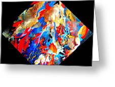 Abstract - Evolution Series 1001 Greeting Card by Dina Sierra