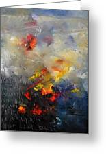 Abstract 0805 Greeting Card by Pol Ledent
