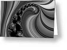 Abstract 121 Bw Greeting Card by Rolf Bertram