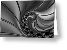 Abstract 125 Bw Greeting Card by Rolf Bertram