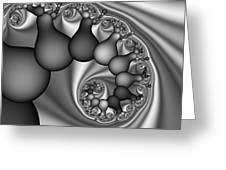 Abstract 170 Bw Greeting Card by Rolf Bertram