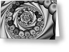 Abstract 507 Bw Greeting Card by Rolf Bertram