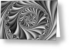 Abstract 508 Bw Greeting Card by Rolf Bertram