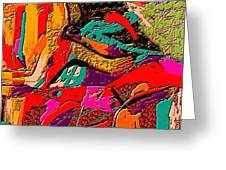 Abstract 508 Greeting Card by Nedunseralathan R
