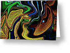 Abstract 6-10-09-a Greeting Card by David Lane