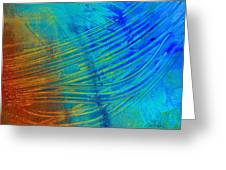 Abstract Art  Painting Freefall By Ann Powell Greeting Card by Ann Powell