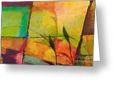 Abstract Art Primavera Greeting Card by Lutz Baar