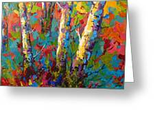 Abstract Autumn II Greeting Card by Marion Rose