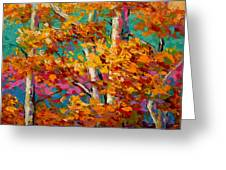Abstract Autumn IIi Greeting Card by Marion Rose