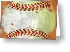 Abstract Baseball Greeting Card by David G Paul