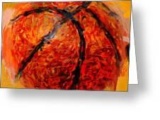 Abstract Basketball Greeting Card by David G Paul