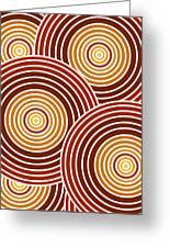 Abstract Circles Greeting Card by Frank Tschakert
