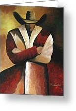 Abstract Cowboy Greeting Card by Lance Headlee