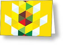 Abstract Cubes Greeting Card by Gary Grayson