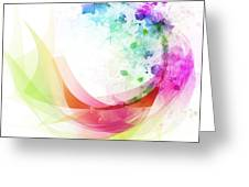 Abstract Curved Greeting Card by Setsiri Silapasuwanchai