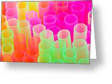 abstract drinking straws Greeting Card by Meirion Matthias