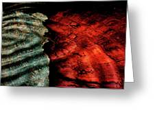 Abstract From Stone Wall Greeting Card by Cynthia Dickinson